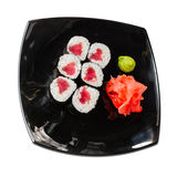 Sushi rolls on a white Stock Photography