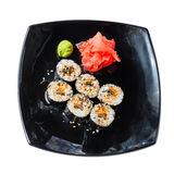 Sushi rolls on a white Royalty Free Stock Photo