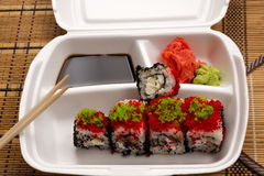 Sushi rolls in a white plate Stock Photo