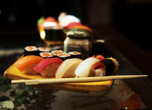 Sushi and  rolls Royalty Free Stock Photos