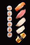 Sushi Rolls y Sashimi Fotografía de archivo libre de regalías
