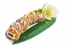 Sushi Ronin isolato su fondo bianco fotografia stock libera da diritti