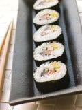 Sushi rotolati grande spirale Fotografie Stock Libere da Diritti