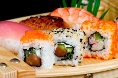 Sushi-rotoli Immagine Stock Libera da Diritti
