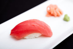 Sushi rouges de thon Photographie stock