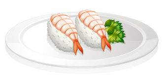 Sushi in a round plate Royalty Free Stock Photo