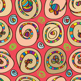 Sushi round seamless pattern Royalty Free Stock Images