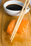 Sushi in row Stock Photography