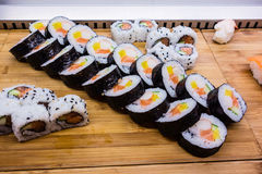 Sushi row Royalty Free Stock Image