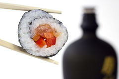 Sushi and sake Stock Images