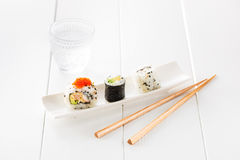 Sushi and sake Royalty Free Stock Photography