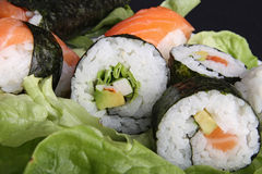 Sushi and salad Royalty Free Stock Image