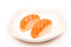 Sushi with a salmon Stock Photo