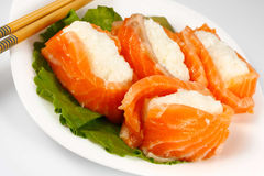 Sushi with salmon Stock Photos