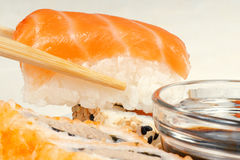 Sushi with salmon Royalty Free Stock Images
