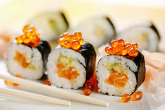 Sushi with salmon Royalty Free Stock Photography
