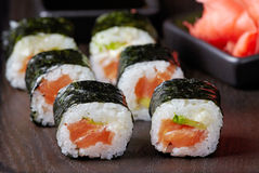 Sushi with salmon Royalty Free Stock Image