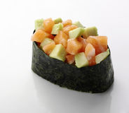 Sushi with salmon and avocado Royalty Free Stock Photo