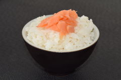 Sushi with Salmon. Sushi with Salmon in a bowl on a black background Stock Images