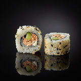 Sushi with salmon and cucumber Stock Photo