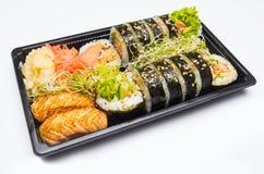 Sushi salmon embalado Fotos de Stock Royalty Free