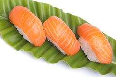 Sushi salmon Stock Images