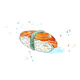Sushi of a salmon. Stock Image