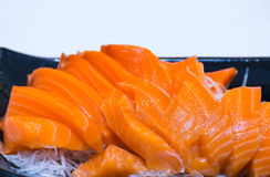 Sushi salmon. The japanese food Stock Image