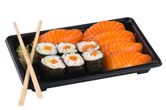 Sushi salmon mix Royalty Free Stock Photos