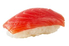 Sushi with salmon (path isolated) Royalty Free Stock Photography