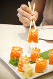 Sushi Salmon Roll Royalty Free Stock Images