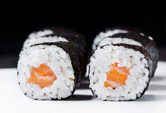 Sushi Salmon Roll. Close up Sushi Salmon Roll Stock Photography
