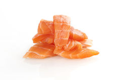 Sushi Salmon - sashimi. Imagem de Stock