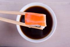 Sushi with salmon Royalty Free Stock Photos