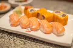 Sushi salmon Royalty Free Stock Photos