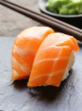 Sushi with salmon Stock Image