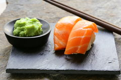 Sushi with salmon Stock Photography