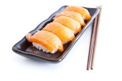 Sushi. Salom sushi with white background Stock Photography