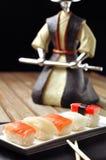Sushi samurai Stock Images