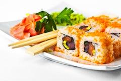 Sushi saporiti Fotografia Stock