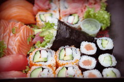 Sushi saporiti Fotografie Stock Libere da Diritti