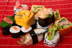 SuShi and sashimi Stock Photos