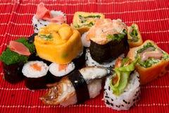SuShi and sashimi. Close up shot Stock Photos
