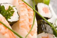 Sushi and Sashimi Royalty Free Stock Photography