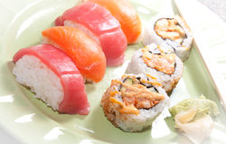 Sushi and Sashimi Royalty Free Stock Photo