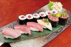 Sushi and sashimi Stock Photos