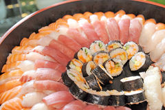 Sushi and Sashimi Royalty Free Stock Image