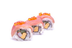 Sushi sashimi with egg salmon Stock Images