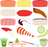 Sushi - Sashimi (Fresh Raw Fish) Royalty Free Stock Photo
