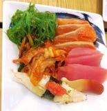 Sushi,Sashimi,Japanese food,Japanese restaurant. Fresh food , Healthy food Royalty Free Stock Photo